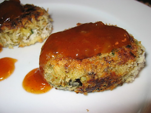 Curry Eggplant Croquettes with Mango Chutney