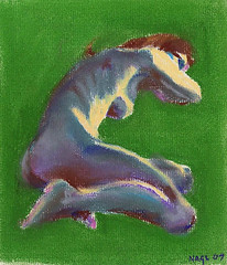 Pastel Study in Grey Blue and Green, October 2007