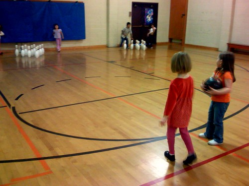 Kindergarten bowling...