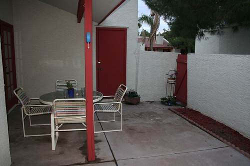 patio, cleaned up