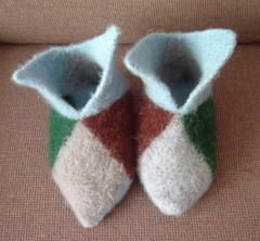 Felted slippers after