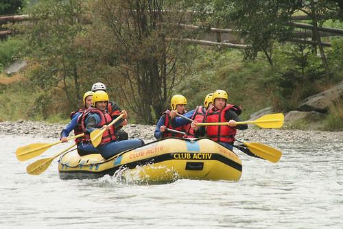 Rafting nell'Alto Adige Italia