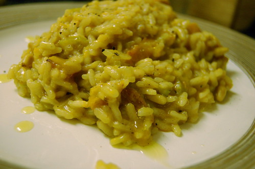 Butternut squash and pine nut risotto