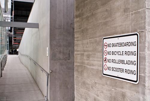 Stern Signage at Caltrans