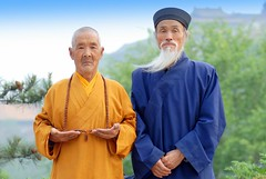 Monk & Taoist / Yellow & Blue (Luo Shaoyang) Tags: china macro yellow religion chinese culture monk buddhism unesco  taoist taoism        nikond200 wutaimountain abigfave aplusphoto luoshaoyang  colourartaward