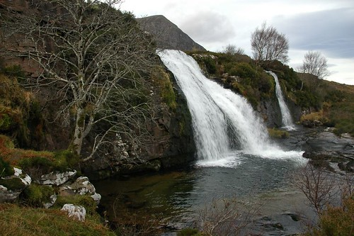Waterfall with Sail Mhor lurking in the background