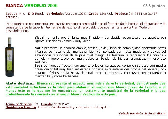 Ficha Bianca 2006