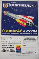 Fireball XL5 (Lady Wulfrun) Tags: fiction ice robot ship venus zoom space steve cream science save anderson puppets spaceman childrens kit zodiac outer saving professor maid fireball wrappers robby gerry 1964 matic 1965 xl5 lyons lollie supermarionation kitmaster