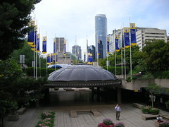 Robson Square, Vancouver, BC, Canada (A Travelling Jack) Tags: pictures city urban building vancouver skyscraper square photo bc skyscrapers image photos britishcolumbia picture images vancouverbc robsonsquare cityofvancouver vancouvercanada vancouverbritishcolumbia vancouverbccanada robsonsquarevancouver vancouvervacation vancouvertourism vancouvervacations vancouvertravel