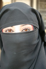 Stunning Eyes (hazy jenius) Tags: travel people woman eyes muslim islam middleeast hijab backpacking journey modesty syria niqab euphrates deirezzur deirezzor deirazzur mayadin
