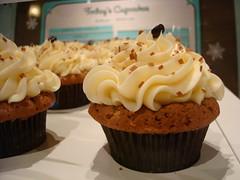 Cafe Au Lait Cupcakes Closeup
