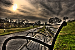 Bikers alley _buffalo bayou ... just relax and watch the sunset