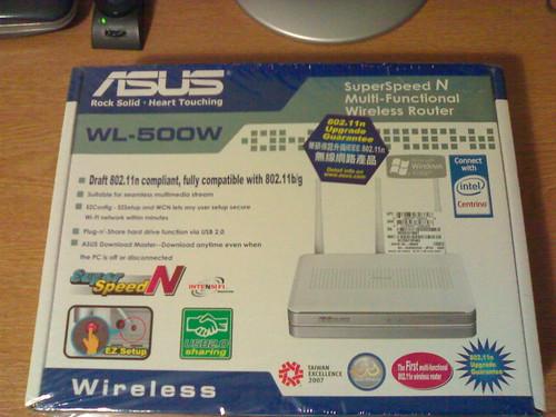 Caja del asus wl-500w