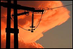 Tormenta elctrica 1 (nachik) Tags: sky sun sol lluvia cables cielo nubes granizo tormenta electricidad naranja tensin the4elements