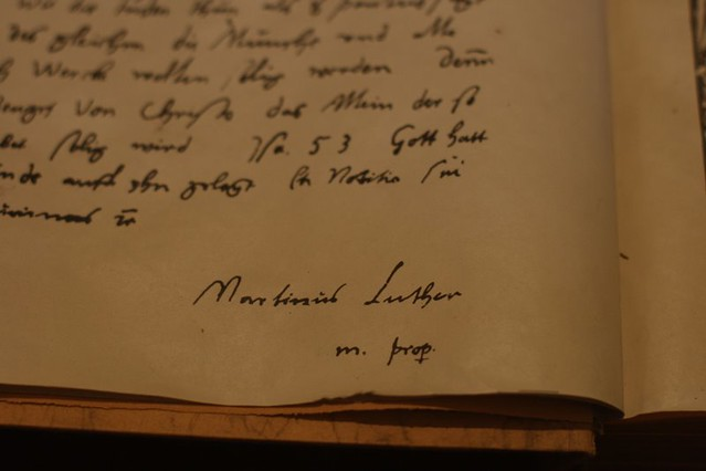 martin luther autograph