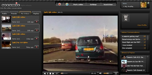 Qik streaming video into Seesmic