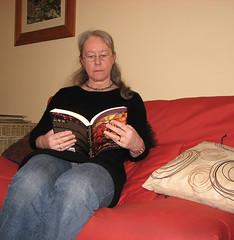 Self-portrait -- reading
