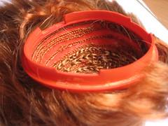 scalp naranja (piedragirl) Tags: tangerine doll blythe prima dye dolly rit aubrey pelo muñeca scalp capilares injertos teñir