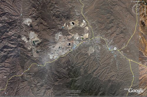 Open Pit Mines (Google Earth), Miami, Arizona and vicinity