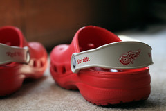 crocs (aashee) Tags: boy red kids children shoes michigan crocs detroitredwings