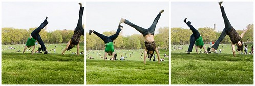 Cartwheels in Central Park