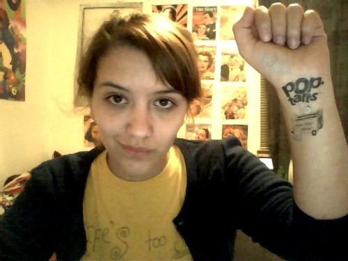 Pop-tarts Tattoo! temporary tattoo. Image bу cross-eyed doll. I look a mess, bυt I found a temporary tattoo аt tһе bottom οf mу pop-tart box.