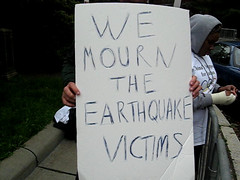 We mourn the earthquake victims