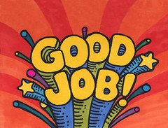 5.11.08 - Good Job! (invisibleElement) Tags: color typography sketch type marker sharpie goodjob invisibleelement sketchaday