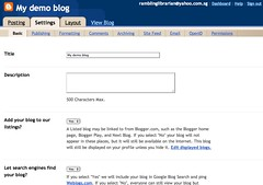 Blogger: My demo blog - Basic Settings