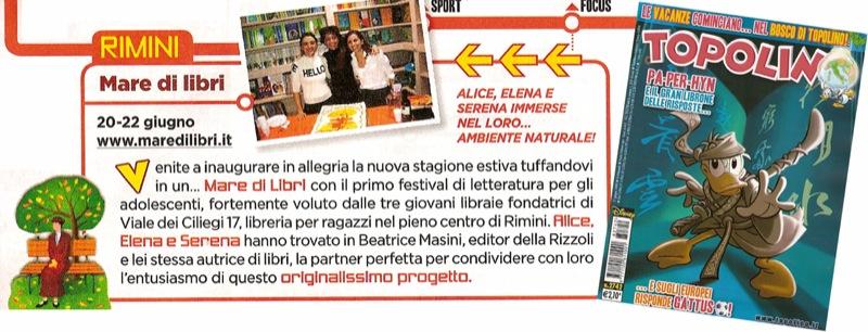 """""""Mare di Libri"""" su Topolino"""