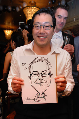 Caricature live sketching for Standard Chartered Bank Legal Learning Event 5