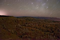 At Night (wenzday01) Tags: park longexposure travel nature night stars landscape utah nationalpark ut nikon canyon bryce nikkor brycecanyon hoodoos brycecanyonnationalpark startrail d90 nikond90 18105mmf3556gedafsvrdx