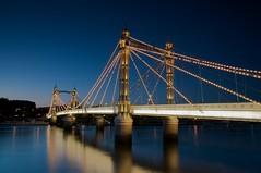 Albert Bridge (tomre) Tags: uk longexposure bridge sunset london cityscape albertbridge longexposures sigma1770mm nikond90