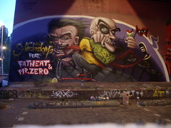 Lost in Amsterdam (Fat Heat .hu) Tags: amsterdam wall graffiti mr fat cartoon heat zero spraycanart cfs coloredeffects fatheat