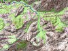 Carte du massif Sud de Bonifatu