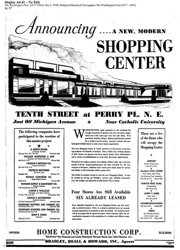 Ad from the October 2, 1938 Washington Post