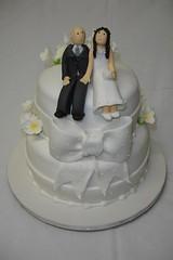 Bride and Groom (*Ded's*) Tags: flowers wedding cake groom bride flor bolo casamento noiva noivos noivinhos