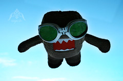 skydiving (dollie_mixtures) Tags: sky cute monster japanese tv goggles plush mascot domo skydive domokun 365toyproject