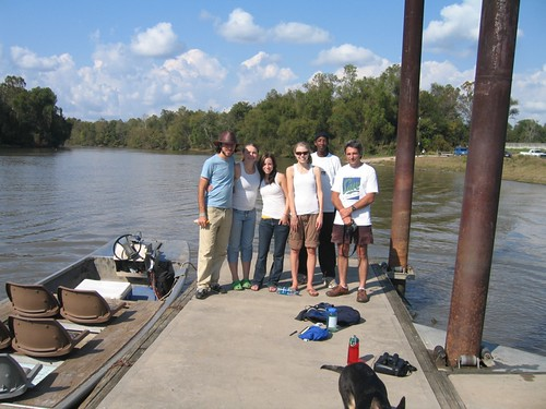 Getting onto the boat by Dickinson College Environmental Studies Department. Quinn, Amanda, Nichole, Anyone can see this photo All rights reserved