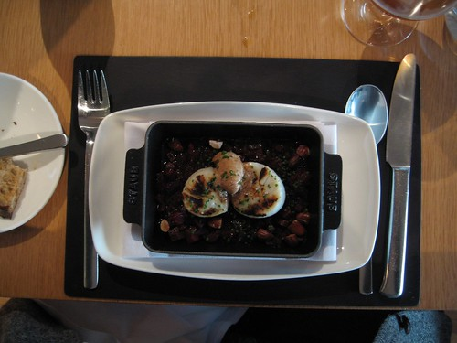 Grilled Diver Scallops with Chianti glazed beets, toasted almonds,             and cumin-sumac butter