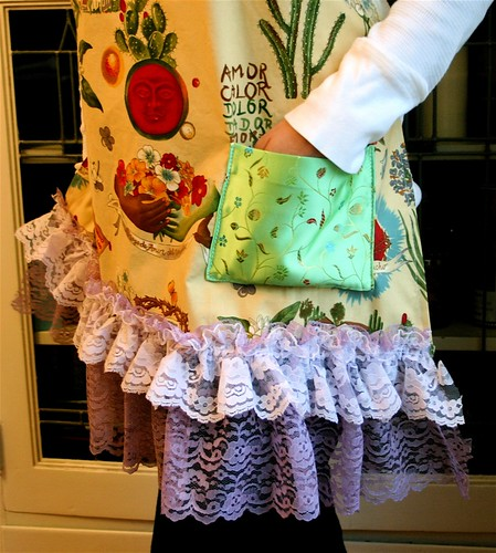 Frida Kahlo inspired quinceneara apron detail