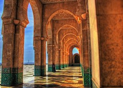 Arches (Karnevil) Tags: africa architecture arches mosque morocco casablanca hdr hussanii