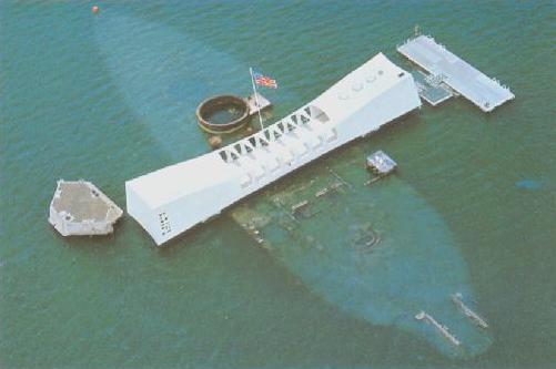USS Arizona Memorial in Pearl Harbor, Hawaii
