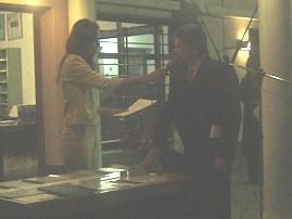 Humberto Torello al momento de efectual el juramento para el cargo de Jefe Comuna de Las Isletillas