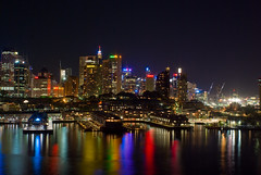 Sydney City Night Skyline: West: Western Half of the City (Craig Jewell Photography) Tags: city west color colour reflection tower water skyline architecture night lights iso100 colorful cityscape nightscape skyscrapers harbour towers sydney australia western newsouthwales colourful 130sec pentaxk10d cpjsm craigjewellphotography