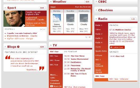 BBC homepage below the fold