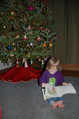 Leda with Christmas Tree