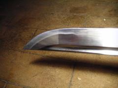 image de l'extrêmité d'un sabre japonais