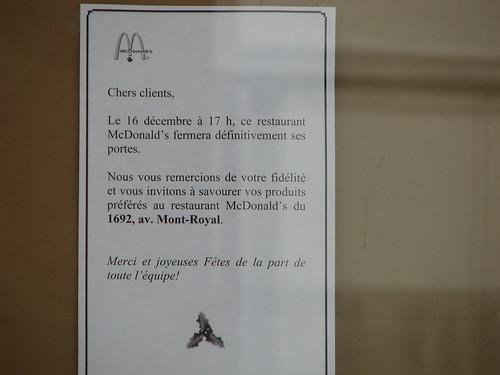 McDonalds Mont-Royal / Parc