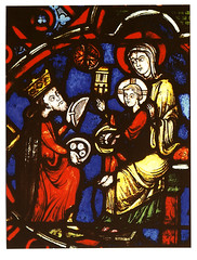 Beauvais, cathedral, window, 13th century (groenling) Tags: christmas xmas window glass marie star king cathedral mary jesus birth cathdrale gift vitrail nativity magi cadeau roi toile beauvais vierge nativit nativitas